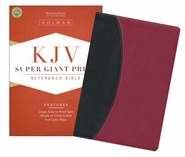 9781433603921: KJV Super Giant Print Reference Bible-Blk/Brg LeatherTouch (Sticker)