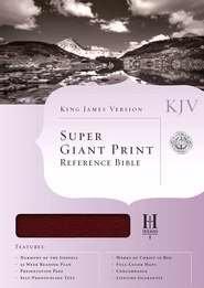 9781433604225: KJV Super Giant Print Reference Bible-Brg Bond Index (Sticker)