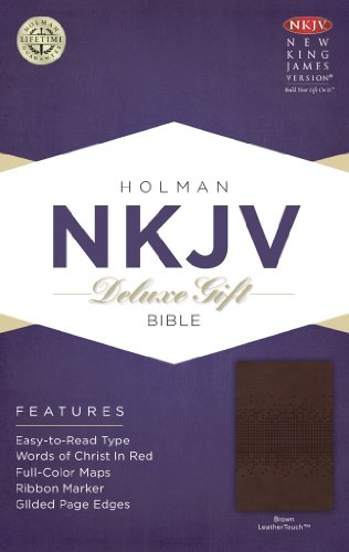 9781433604683: NKJV Deluxe Gift Bible, Brown LeatherTouch