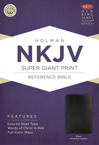 NKJV Super Giant Print Reference Bible, Black Imitation Leather: Holman Bible Publishers