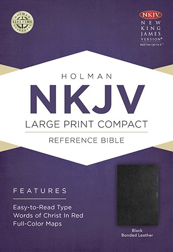 9781433604935: NKJV Large Print Compact Reference Bible, Black Bonded Leather
