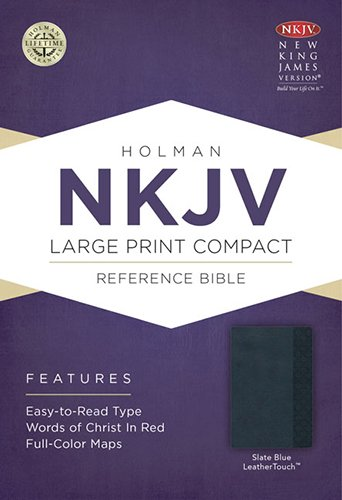 9781433605017: NKJV Large Print Compact Reference Bible, Slate Blue LeatherTouch