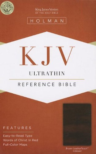 9781433605215: KJV Ultrathin Reference Bible, Brown LeatherTouch Indexed