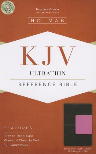 9781433605406: KJV Ultrathin Reference Bible, Brown/Pink LeatherTouch with Magnetic Flap