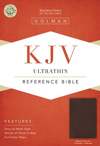 9781433605475: KJV Ultrathin Reference Bible, Brown Genuine Cowhide Indexed