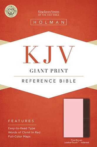 9781433605642: KJV Giant Print Reference Bible, Pink/Brown LeatherTouch Indexed
