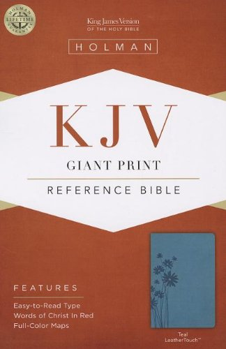 9781433605710: KJV Giant Print Reference Bible, Teal LeatherTouch