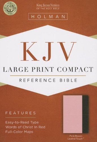 9781433605871: KJV Large Print Compact Reference Bible, Pink/Brown LeatherTouch