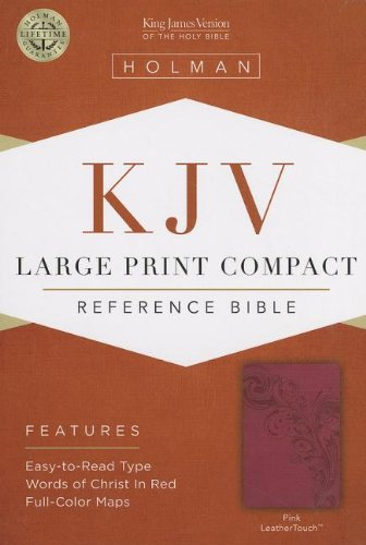 9781433605925: KJV Large Print Compact Reference Bible, Pink LeatherTouch