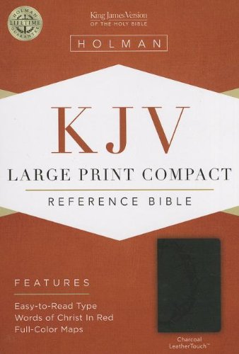 9781433605949: KJV Large Print Compact Reference Bible, Charcoal LeatherTouch