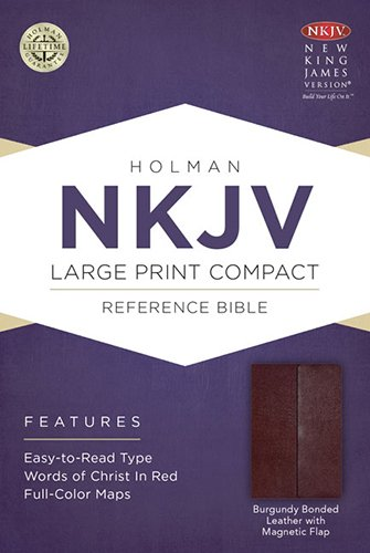 9781433606410: Holy Bible: New King James Version, Burgundy, Bonded Leather With Magnetic Flap, Holman Reference