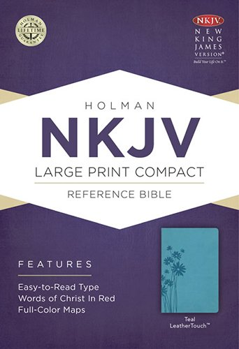 9781433606489: NKJV Large Print Compact Reference Bible, Teal LeatherTouch