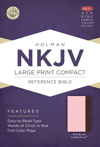 9781433606519: NKJV Large Print Compact Reference Bible, Pink/Brown LeatherTouch