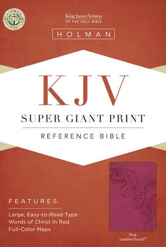 9781433607165: KJV Super Giant Print Reference Bible, Pink LeatherTouch