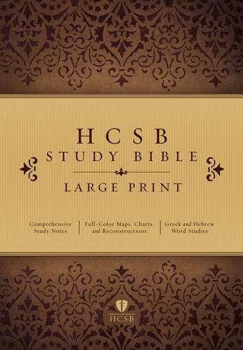 9781433607479: HCSB Large Print Study Bible, Hardcover