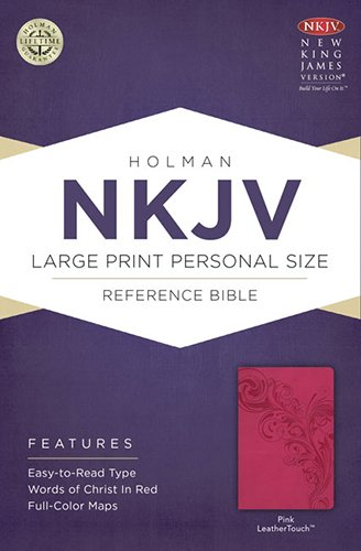 9781433613029: NKJV Large Print Personal Size Reference Bible, Pink LeatherTouch