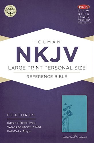 9781433613050: NKJV Large Print Personal Size Reference Bible, Teal LeatherTouch Indexed
