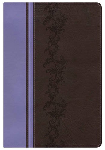 KJV Rainbow Study Bible, Brown/Lavender LeatherTouch, Indexed: Holman Bible Staff