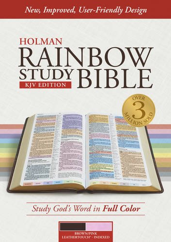 9781433613609: KJV Rainbow Study Bible, Brown/Pink LeatherTouch, Indexed