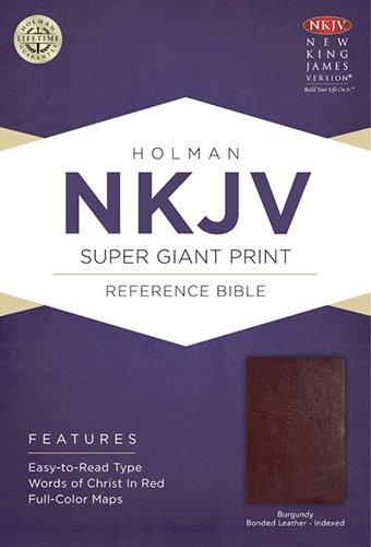 Super Giant Print Reference Bible-NKJV (Bonded Leather)