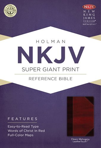 9781433614279: NKJV Super Giant Print Reference Bible, Classic Mahogany LeatherTouch