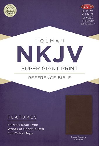 NKJV Super Giant Print Reference Bible, Brown