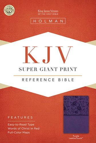 9781433614507: KJV Super Giant Print Reference Bible, Purple LeatherTouch