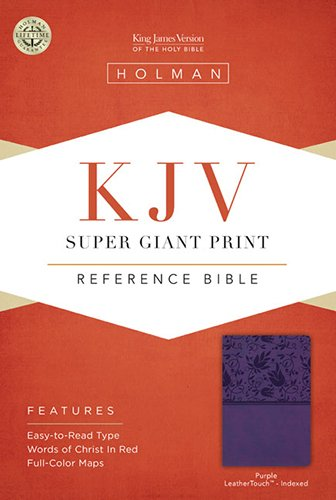 Super Giant Print Reference Bible-KJV: Holman Bible Staff