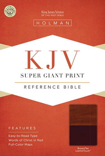 9781433614521: KJV Super Giant Print Reference Bible, Brown/Tan LeatherTouch