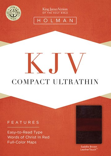 9781433614644: KJV Compact Ultrathin Bible, Saddle Brown LeatherTouch