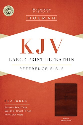 9781433615535: KJV Large Print Ultrathin Reference Bible, Brown LeatherTouch