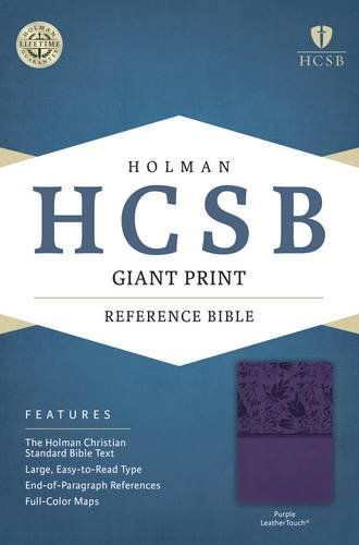 9781433615986: HCSB Giant Print Reference Bible, Purple LeatherTouch
