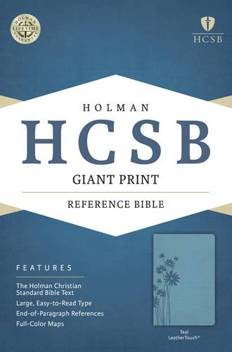9781433616006: HCSB Giant Print Reference Bible, Teal LeatherTouch