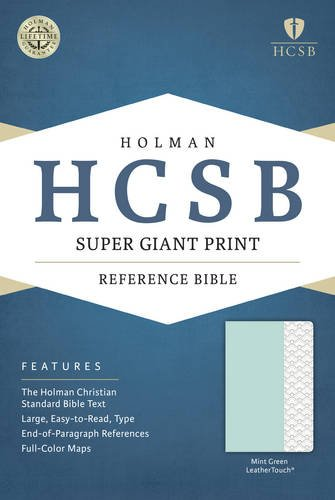 9781433617102: HCSB Super Giant Print Reference Bible, Mint Green LeatherTouch