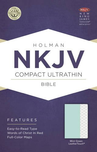 NKJV Compact Ultrathin Bible, Mint Green LeatherTouch: Holman Bible Publishers