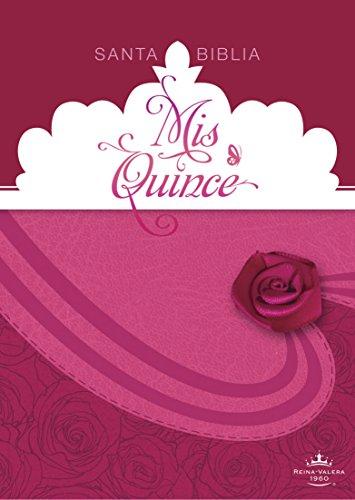 9781433619243: RVR 1960 Biblia Mis Quince, cóctel de frambuesa con aplique símil piel (Spanish Edition)