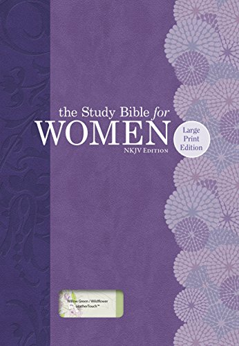 9781433619335: The Study Bible for Women: NKJV Large Print Edition, Willow Green/Wildflower LeatherTouch Indexed