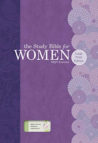 9781433619342: The Study Bible for Women: NKJV Large Print Edition, Willow Green/Wildflower LeatherTouch