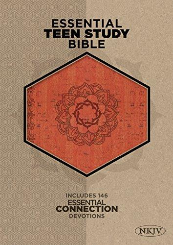 9781433619663: The NKJV Essential Teen Study Bible, Orange Cork LeatherTouch