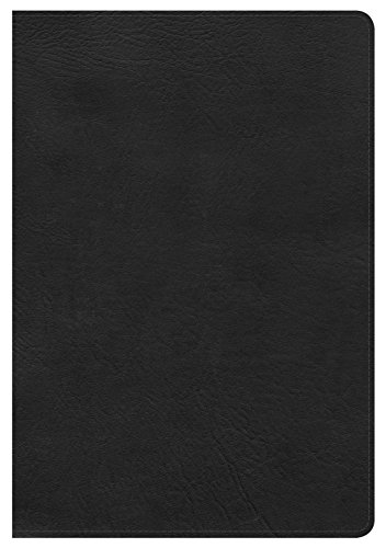 KJV Giant Print Reference Bible, Black LeatherTouch, Indexed: Holman Bible Publishers