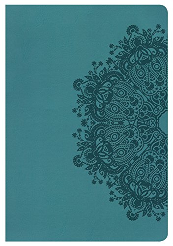 9781433620843: HCSB Giant Print Reference Bible, Teal LeatherTouch, Indexed
