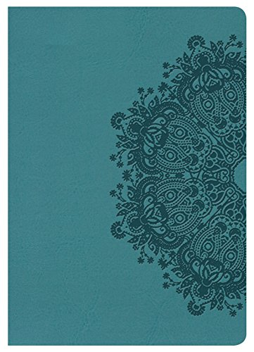 9781433620881: HCSB Large Print Compact Bible, Teal LeatherTouch