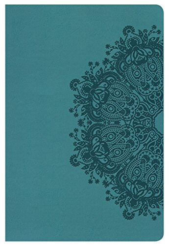 9781433636028: NKJV Large Print Personal Size Reference Bible, Teal LeatherTouch, Indexed