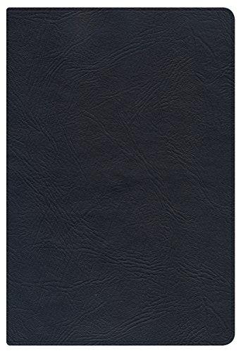 KJV Large Print Personal Size Reference Bible, Black Genuine Leather: Holman Bible Publishers