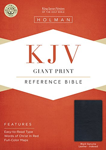 9781433645037: KJV Giant Print Reference Bible, Black Genuine Leather Indexed
