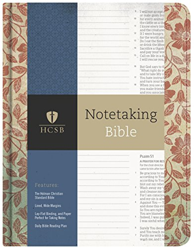 HCSB Notetaking Bible, Red Floral (Hardcover)