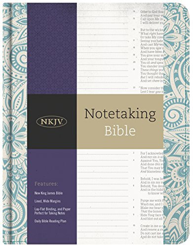 9781433645655: NKJV Notetaking Bible, Blue Floral