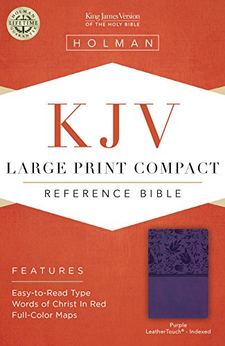 9781433646225: KJV Large Print Compact Reference Bible, Purple LeatherTouch, Indexed