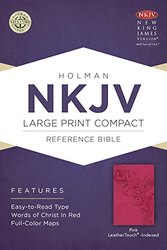 9781433646508: NKJV Large Print Compact Reference Bible, Pink LeatherTouch, Indexed
