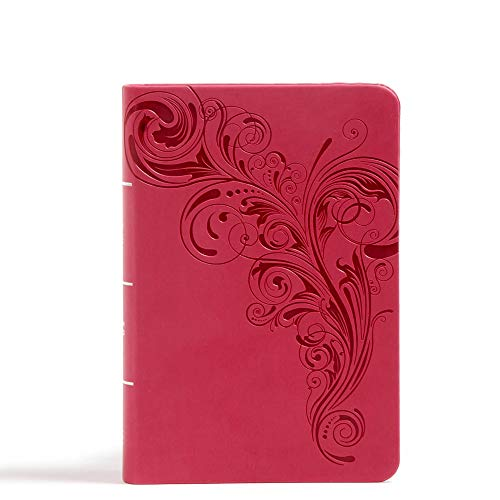 9781433647840: CSB Large Print Compact Reference Bible, Pink Leathertouch